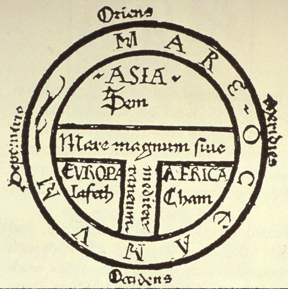 Mappa Mundi. Испания, 7 век.