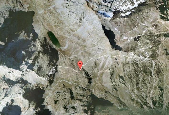 Col du Clapier. Снимок из космоса