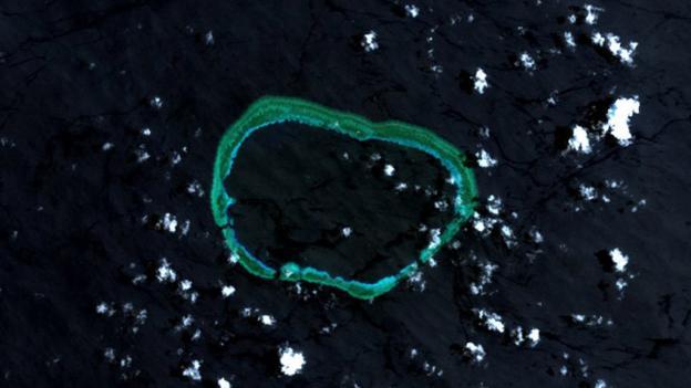 Одно только изменение политических отношений между двумя супердержавами может вызвать локальные территориальные споры, показывает пример рифа Мисчиф (Фото: Wikipedia/NASA/CC BY 2.0)