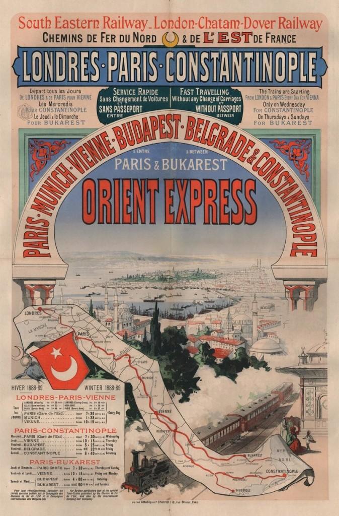 Первый плакат, посвященный Восточному экспрессу, 1888 год