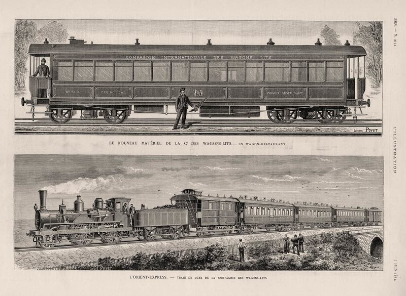 Вот как выглядел первый Восточный экспресс. Журнал L'Illustration, 1884 год