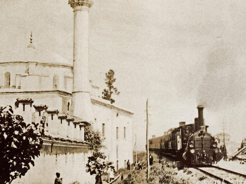 Восточный экспресс проезжает мимо Айя-Софии в Константинополе, 1895 год.