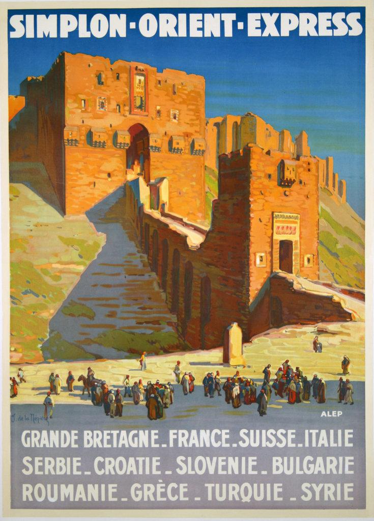 Рекламный плакат Симплонского Восточного экспресса