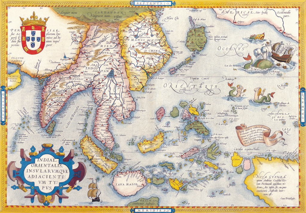 Antique Maps of the World Map of South East Asia Abraham Ortelius c 1590