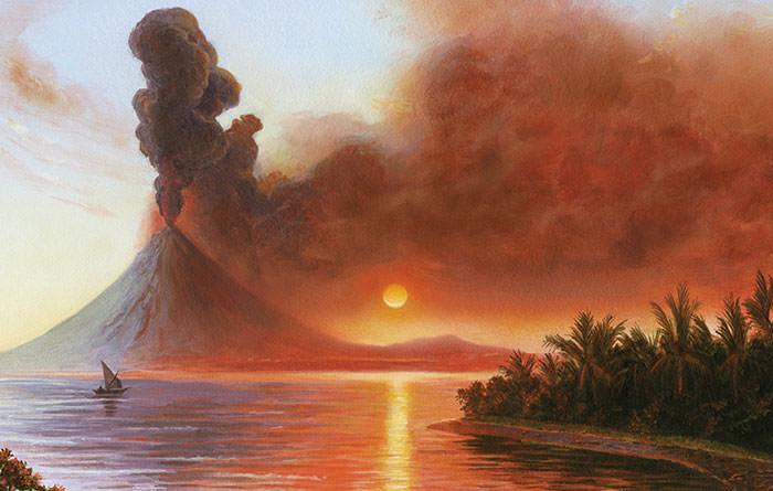 A-depiction-of-the-Mount-Tambora-eruption