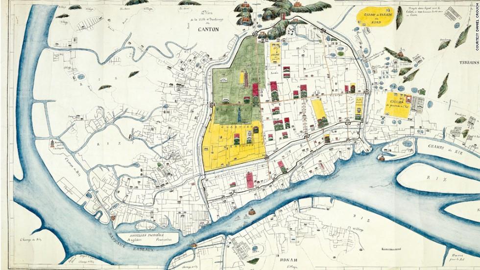 """""""Город и предместья Кантона"""", 1860 год."""