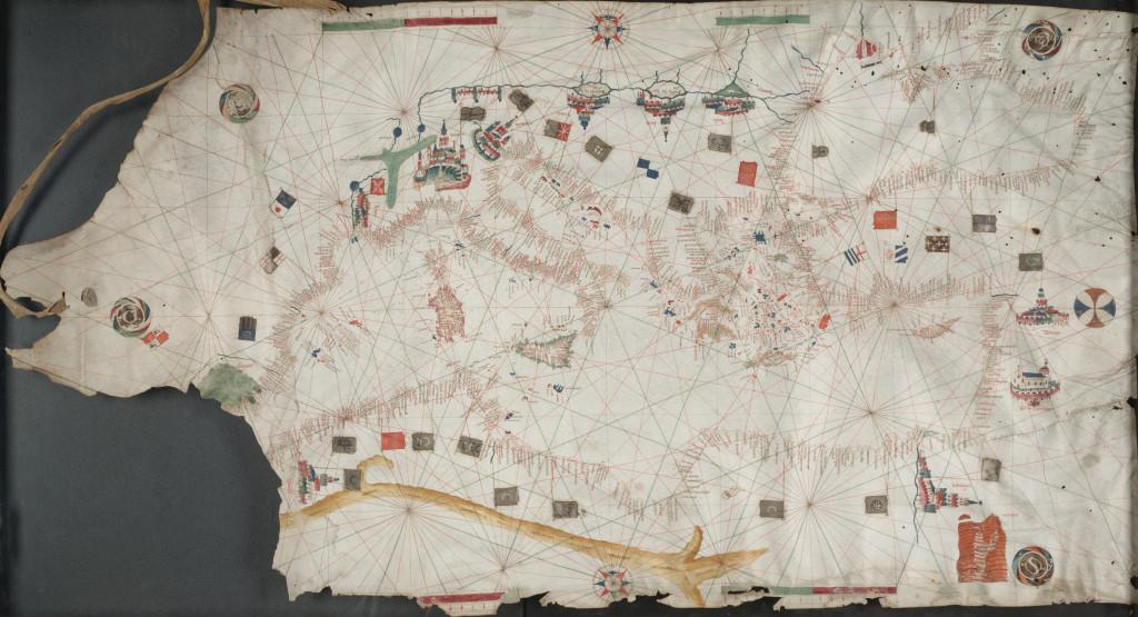 Portolan chart of Mediterranean *circa 1450-1475 *111.76 x 63.5 cm