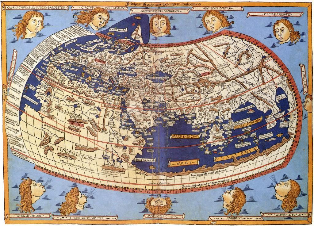 """""""Космографика"""" Птолемея, 1482 год."""
