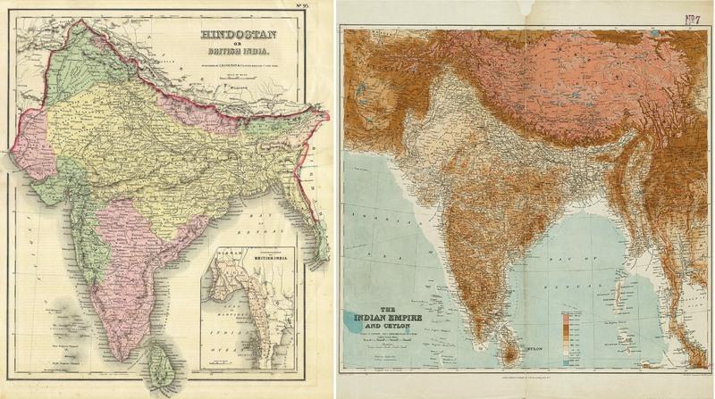 Старые карты Южной Азии - в 19 и 20 веках