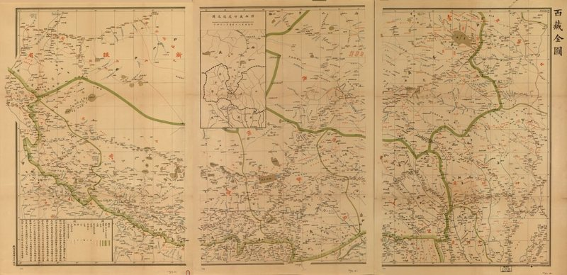 Старая карта Тибета 1904 года