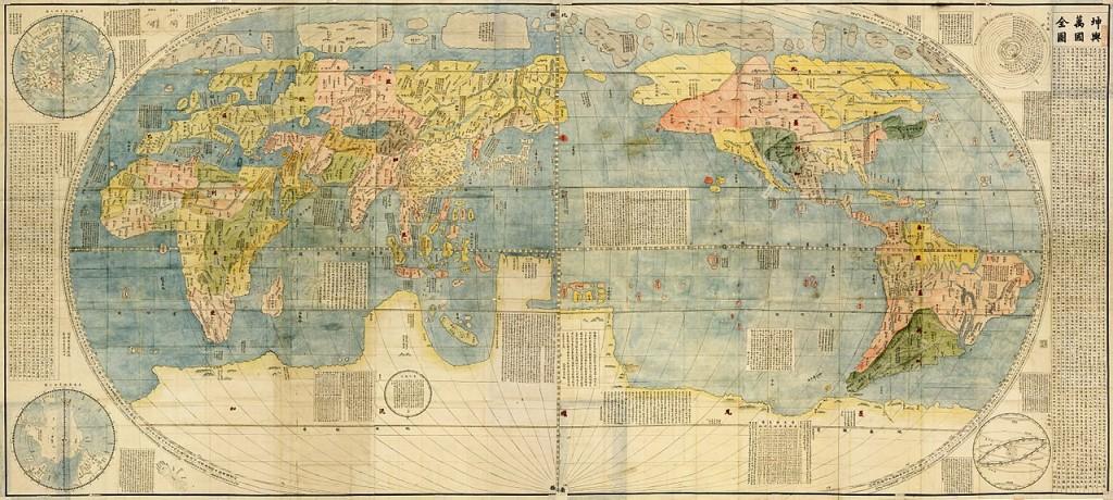 Карта Kunyu Wanguo Quantu, 1604 год