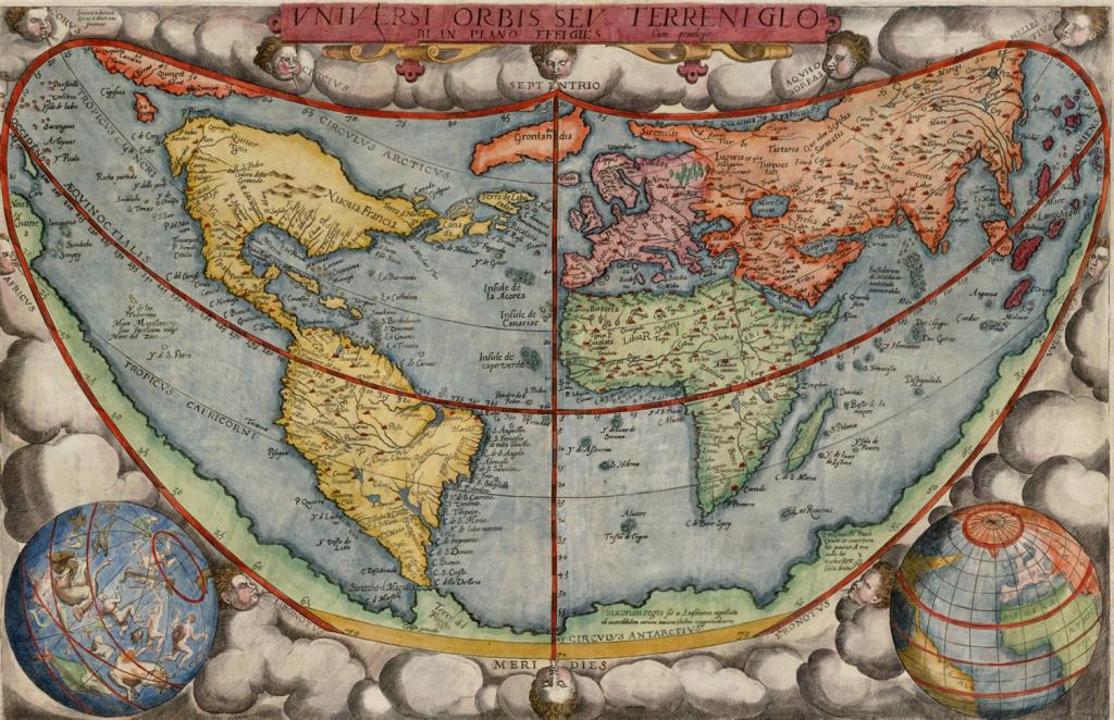 Карта мира Герарда де Йоде 1577 года