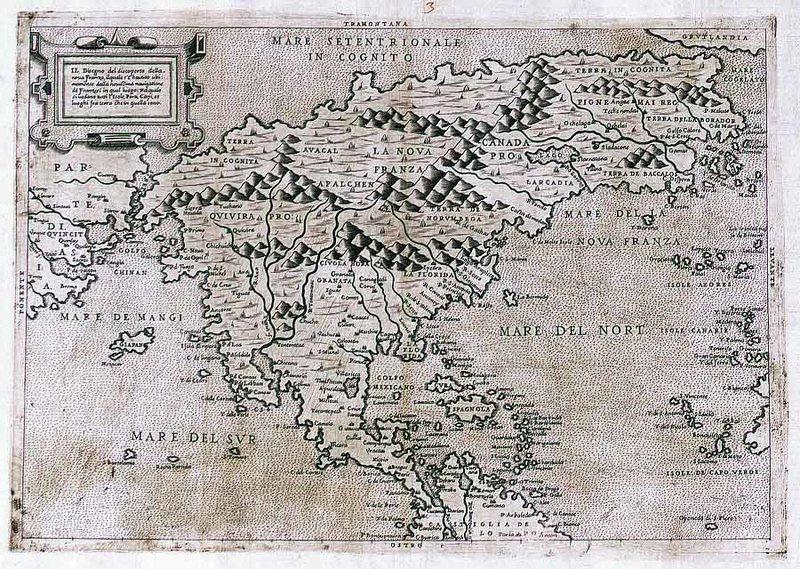 Карта Северной Америки (Форлани, 1566 год)