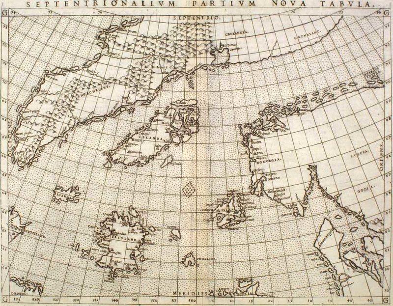 Карта Зено с Фрисландом (1561 г)