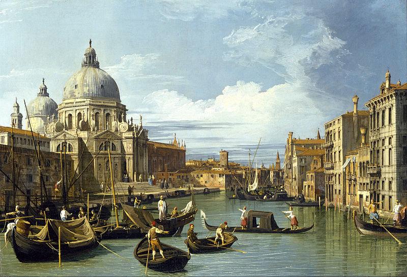 Вход в Гранд Канал в Венеции (примерно 1730 г, Каналетто)