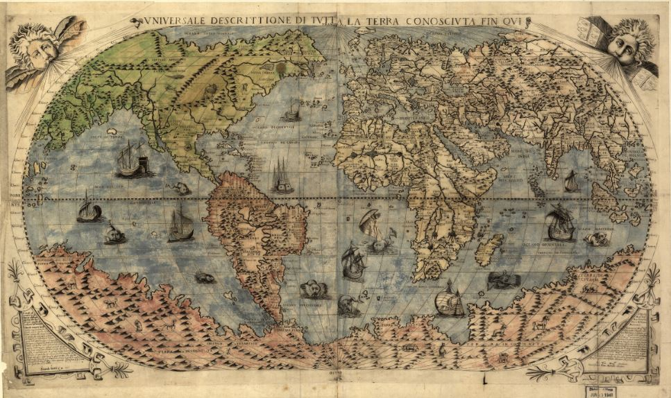 Карта мира Джакомо Гастальди