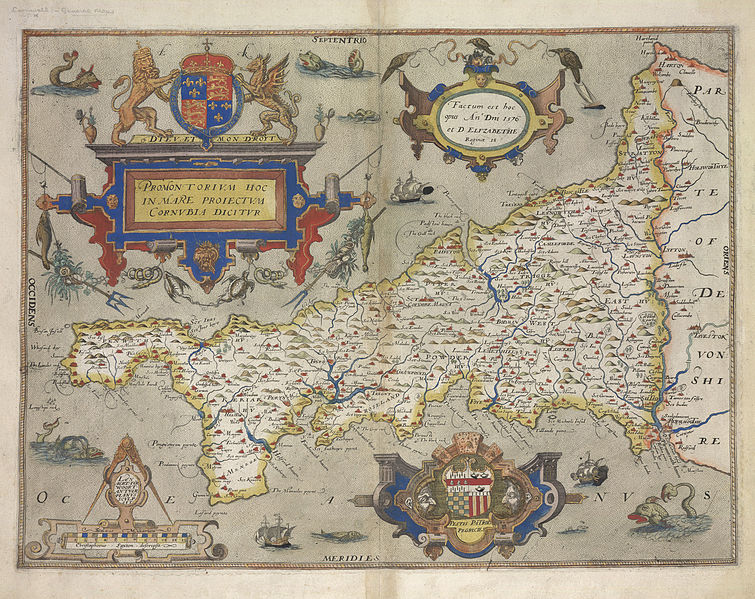 Cornwall_-_Christopher_Saxton,_1579,_5_-_BL